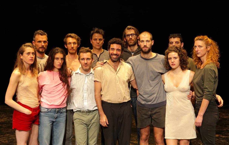 De gauche à droite: Marie, Léonard, Chandra, Yoann, Yannick, Nicolas, Philippe, Vivien, Joachim, Sophie, David, Katell